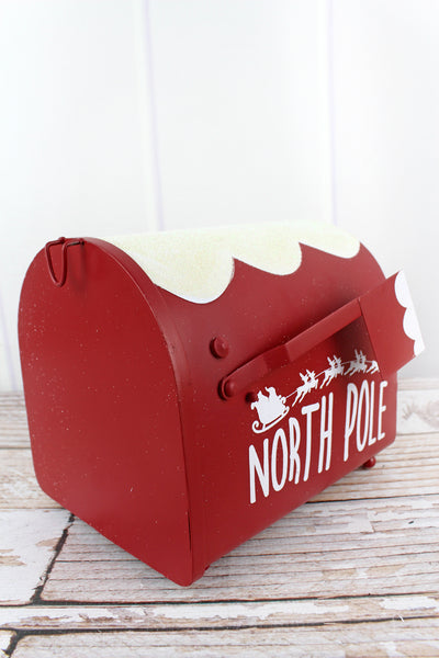 7.75 x 7.5 'North Pole' Metal Mail Box
