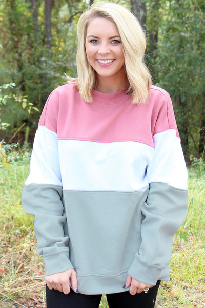 Charles River Blush, White, Light Gray Westerly Crew Sweatshirt (Wholesale Pricing N/A)