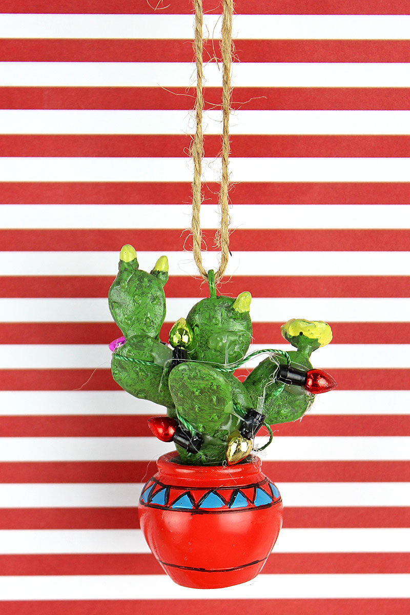 Christmas Prickly Pear Resin Ornament
