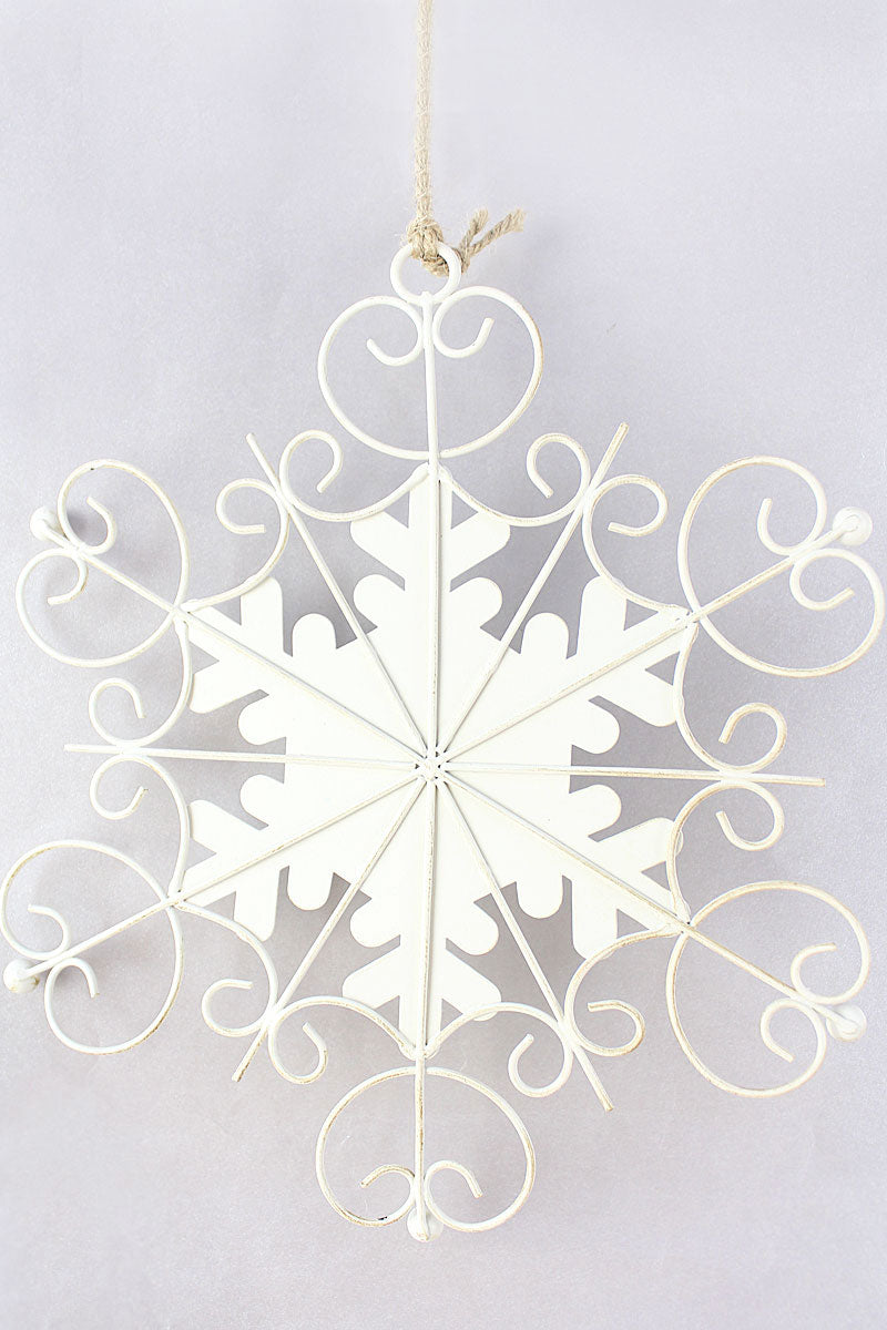 8.75 x 7.5 Winter Wonderland Metal Snowflake