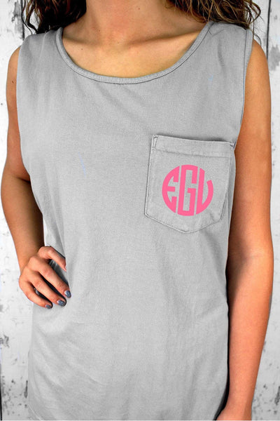 Shades of Neutral Comfort Colors Pocket Tank #9330 *Personalize It