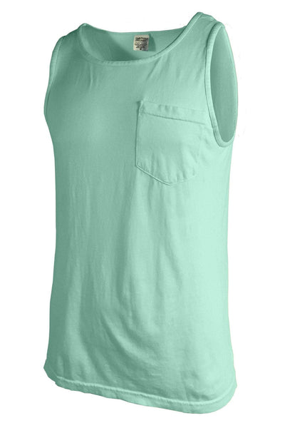 Shades of Green/Yellow Comfort Colors Pocket Tank *Personalize It