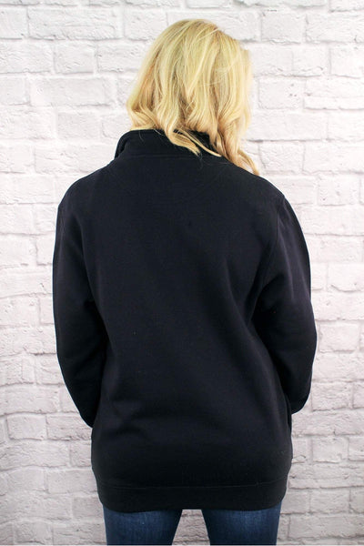 Charles River Quarter Zip Sweatshirt (Men's Cut), Navy *Personalize It! (Wholesale Pricing N/A)