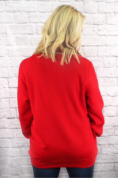 Charles River Quarter Zip Sweatshirt (Men's Cut), Red *Personalize It! (Wholesale Pricing N/A)