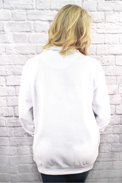 Charles River Quarter Zip Sweatshirt (Men's Cut), White *Personalize It! (Wholesale Pricing N/A)