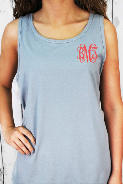 Shade of Neutral Comfort Colors Cotton Tank Top #9360 *Personalize It (PLEASE ALLOW 3-5 BUSINESS DAYS. EXPEDITED SHIPPING N/A)