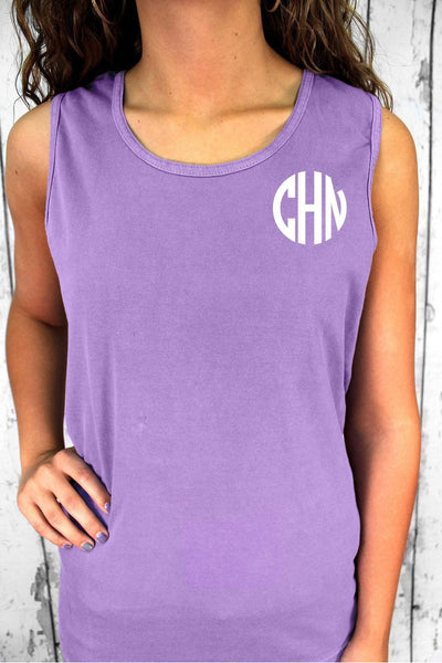 Shade of Pink/Purple Comfort Colors Cotton Tank Top #9360 *Personalize It (PLEASE ALLOW 3-5 BUSINESS DAYS. EXPEDITED SHIPPING N/A)