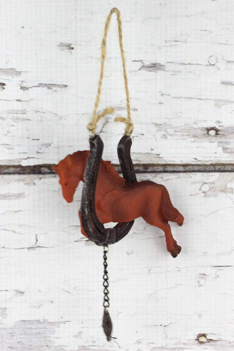 Horse Jumping Through Horseshoe Ornament, 5""