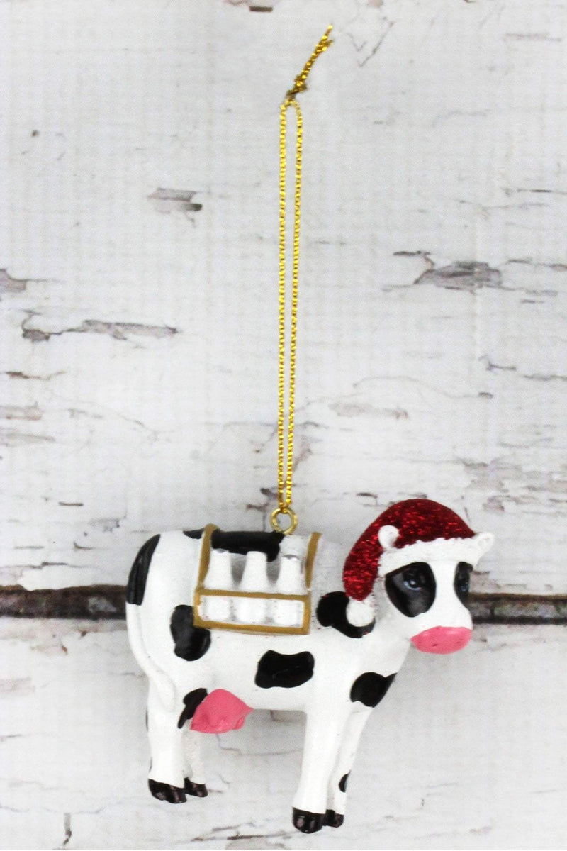 Christmas Cow Ornament, 2.75""