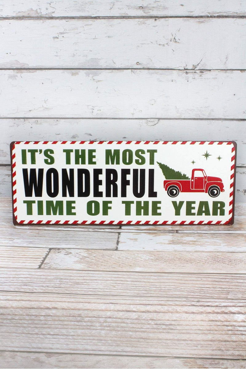 7.5 x 19 'Most Wonderful Time' Metal Sign