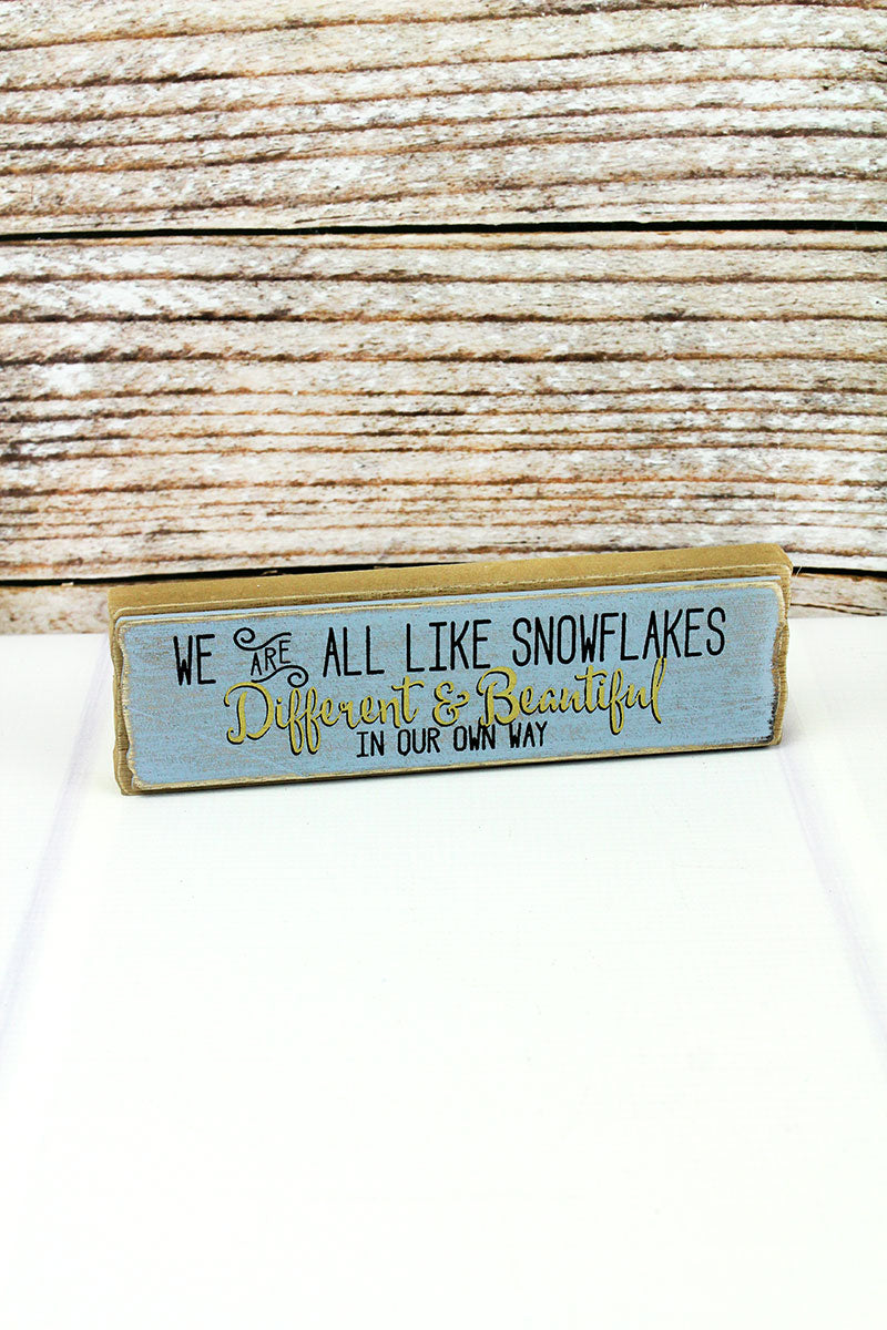 2 x 7.25 'Different & Beautiful' Wood Block Sign