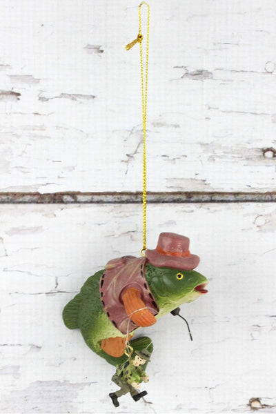 Fish With Prized Catch Ornament, 3""