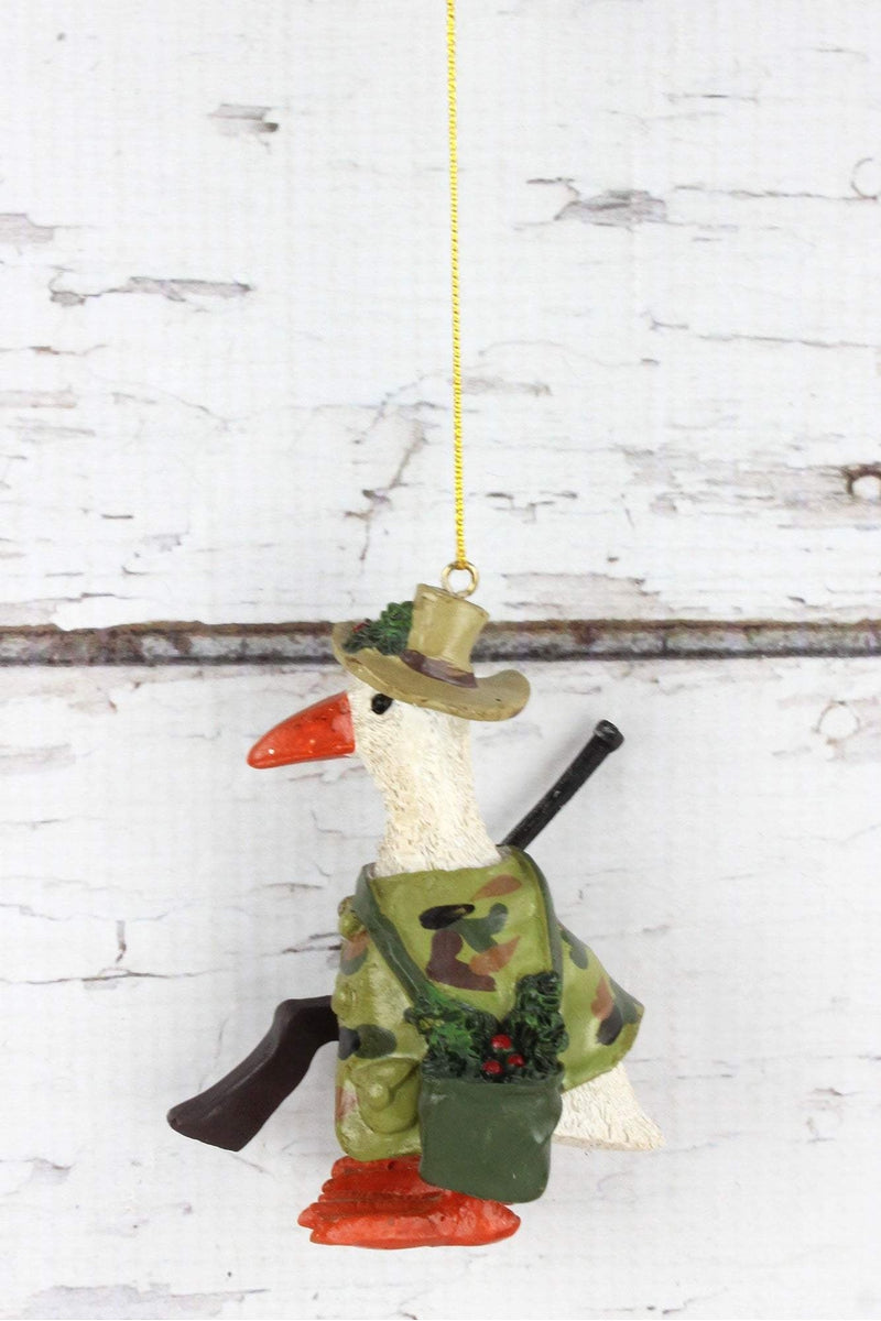 Duck Hunting Ornament, 4""
