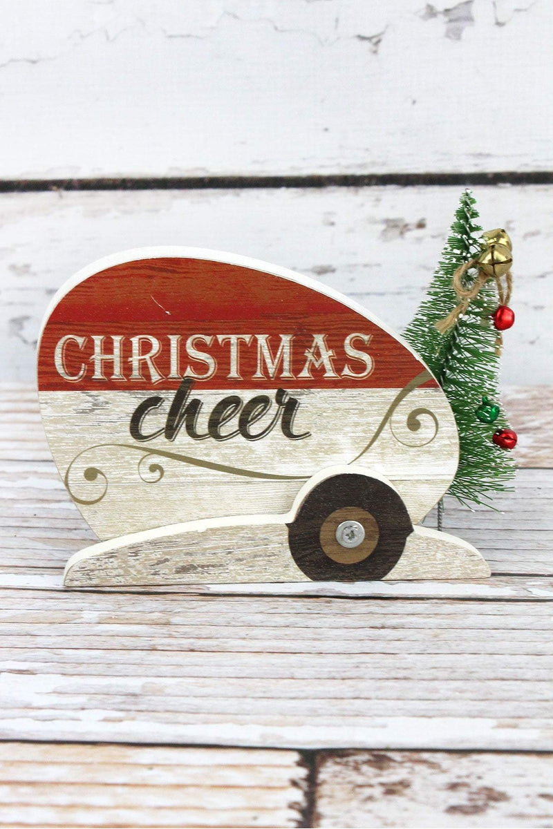 4 x 6 'Christmas Cheer' Wood Tabletop Camper