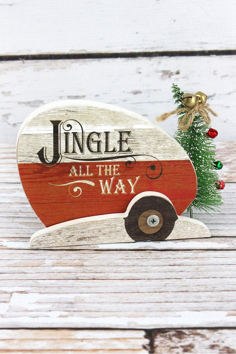 4 x 6 'Jingle All The Way' Wood Tabletop Camper