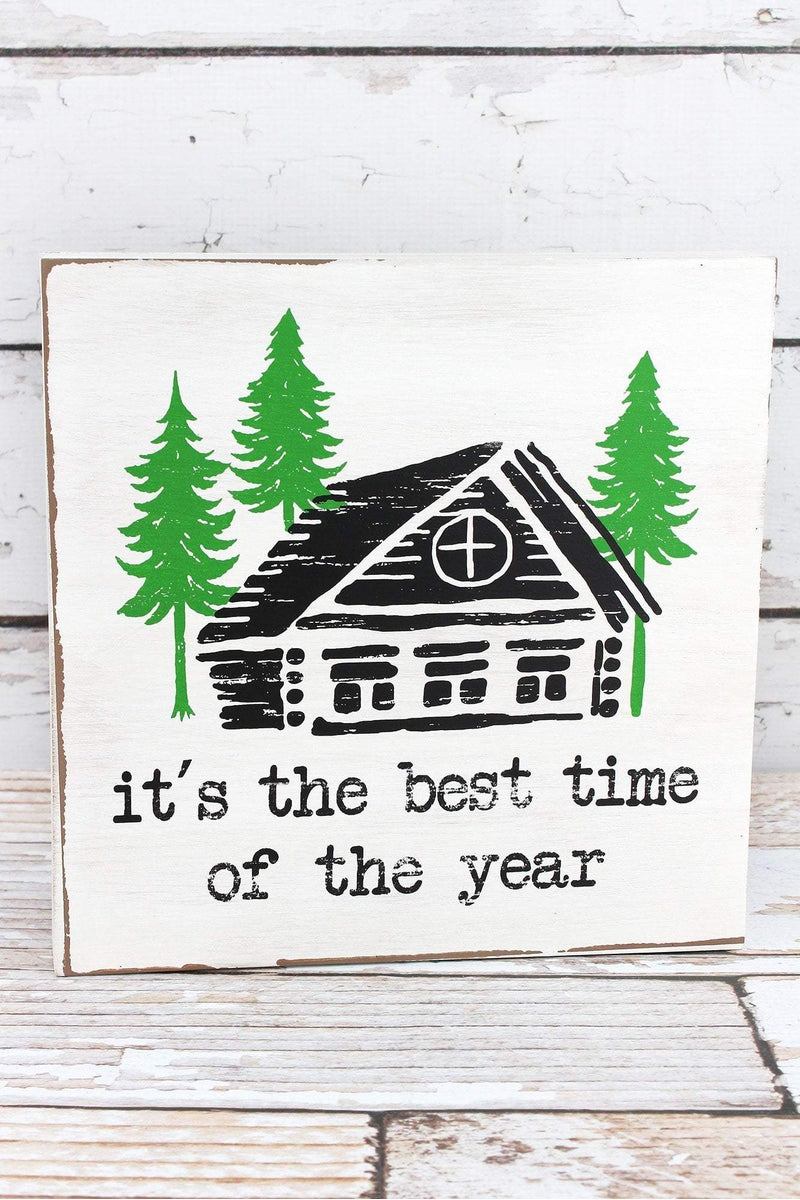 10 x 10 'Best Time of the Year' Wood Sign