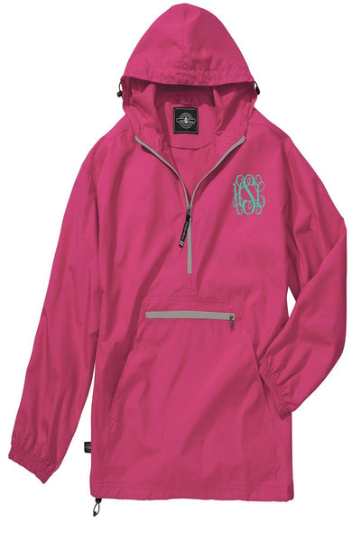 Charles River Lightweight Rain Pullover, Hot Pink *Customizable! (Wholesale Pricing N/A)