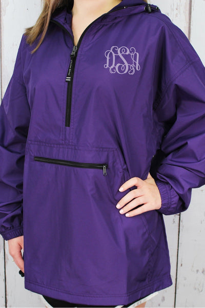 Charles River Lightweight Rain Pullover, Purple #9904 *Customizable! (Wholesale Pricing N/A.. PLEASE ALLOW 3-5 BUSINESS DAYS.. EXPEDITED SHIPPING N/A) - Wholesale Accessory Market
