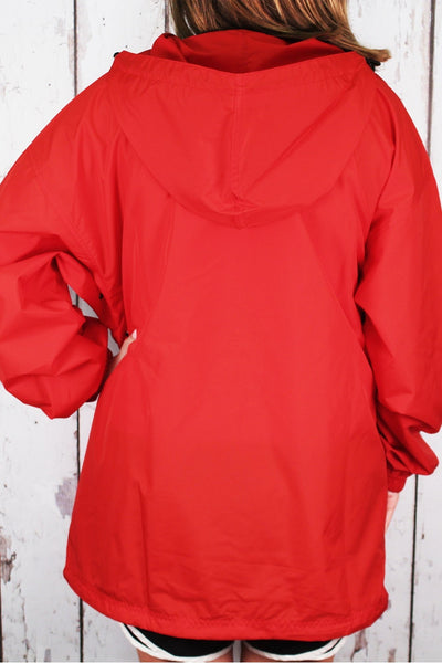 Charles River Lightweight Rain Pullover, Red #9904 *Customizable! (Wholesale Pricing N/A.. PLEASE ALLOW 3-5 BUSINESS DAYS.. EXPEDITED SHIPPING N/A) - Wholesale Accessory Market