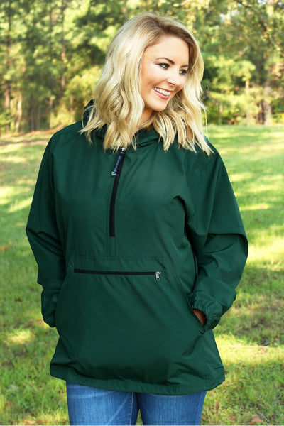 Charles River Lightweight Rain Pullover, Forest *Customizable! (Wholesale Pricing N/A)