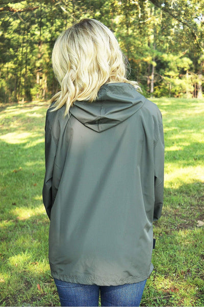 Charles River Lightweight Rain Pullover, Gray *Customizable! (Wholesale Pricing N/A)