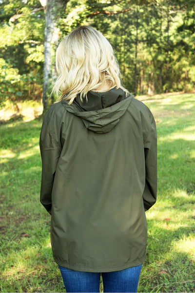 Charles River Lightweight Rain Pullover, Olive *Customizable! (Wholesale Pricing N/A)