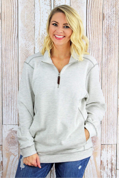 Charles River Unisex Conway Flatback Rib Pullover, Ivory Heather *Personalize It! (Wholesale Pricing N/A)