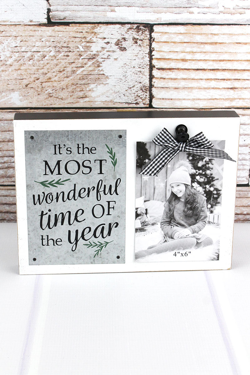 7.5 x 10 'It's The Most Wonderful Time Of The Year' 4x6 Photo Display