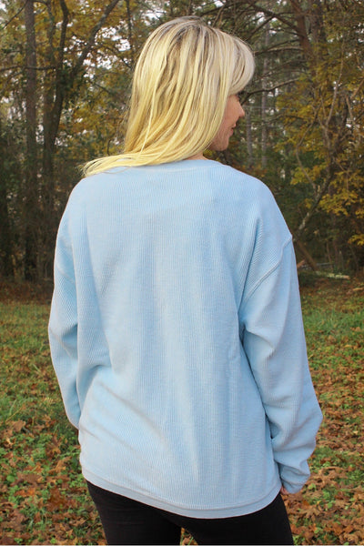 Charles River Camden Crew Neck Sweatshirt, Chambray *Personalize It! (Wholesale Pricing N/A)