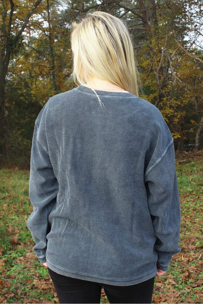 Charles River Camden Crew Neck Sweatshirt, Denim *Personalize It! (Wholesale Pricing N/A)