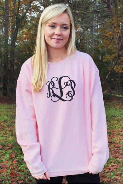 Charles River Camden Crew Neck Sweatshirt, Millennial Pink *Personalize It! (Wholesale Pricing N/A)
