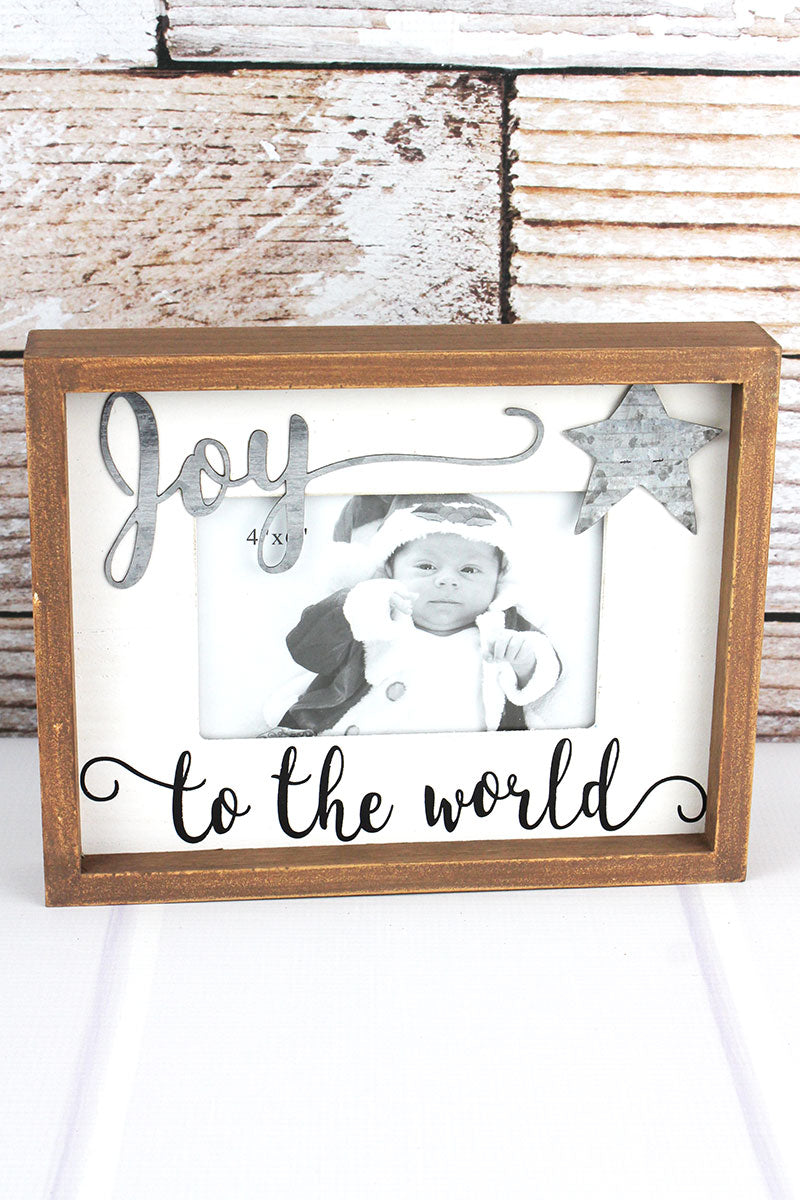7.75 x 9.75 'Joy To The World' 4x6 Photo Frame