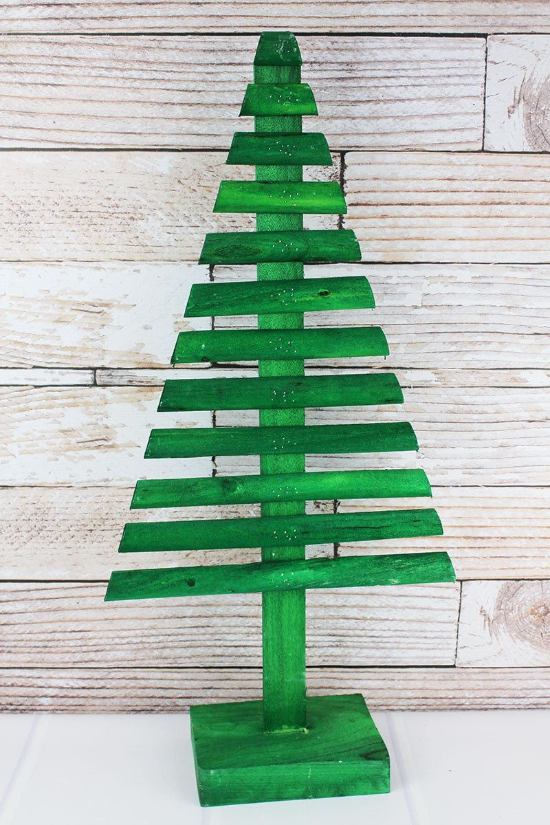 29 x 14 Green Wood Graduated Tree