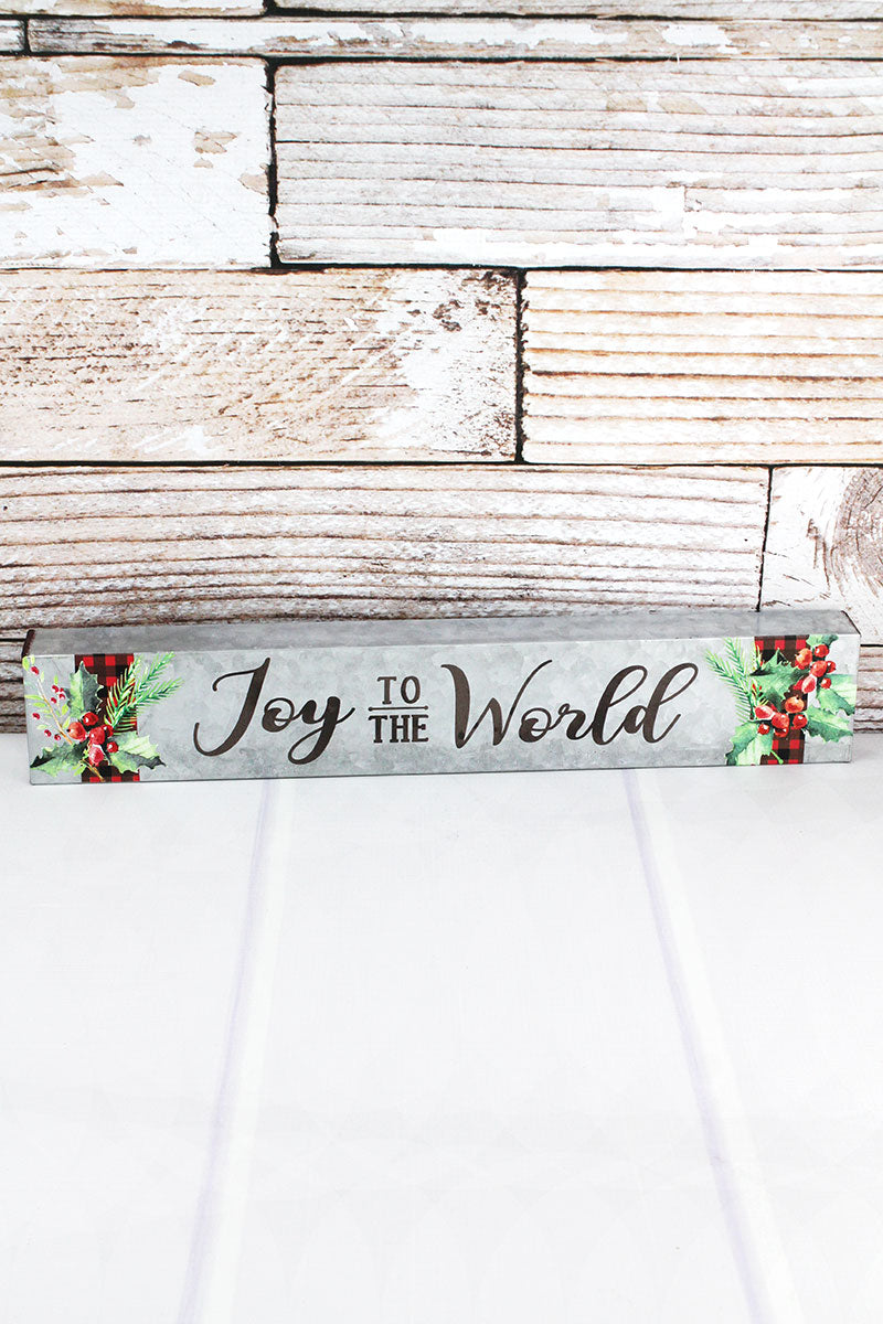 3 x 18 'Joy To The World' Metal Box Sign
