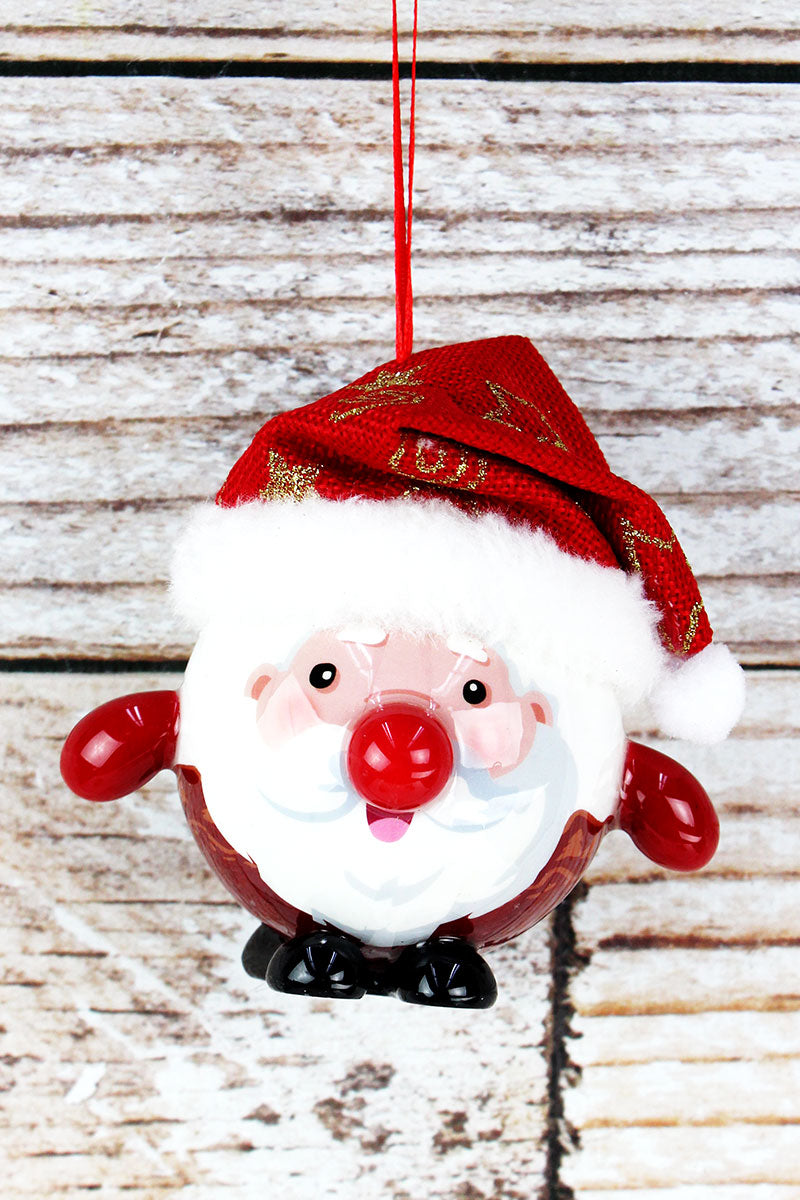 Blinking Santa Claus Ornament, 4""