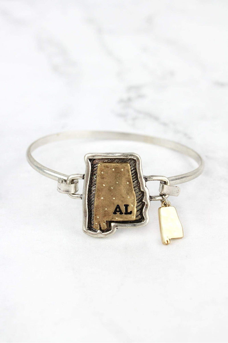 Hammered Two-Tone Alabama Bracelet