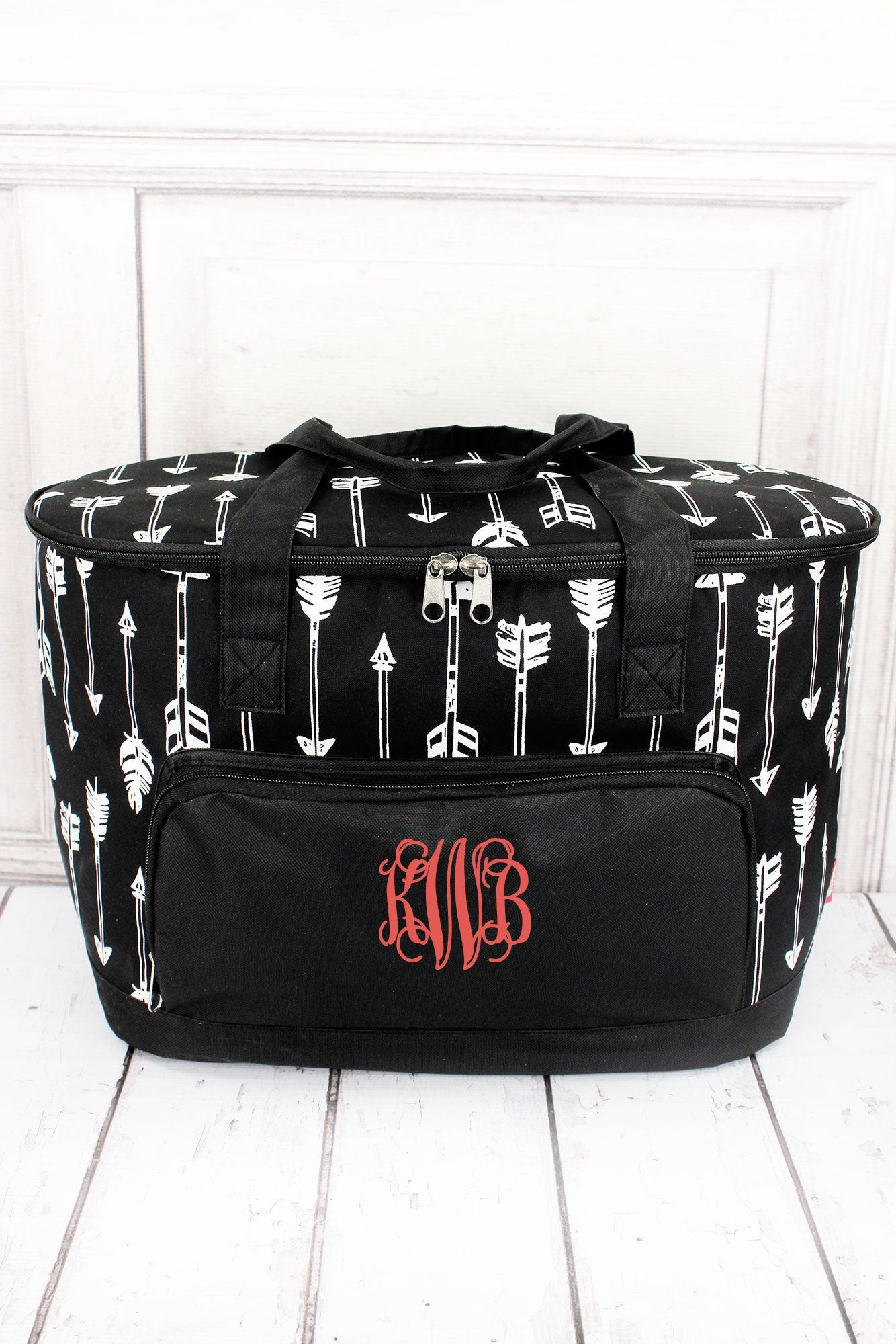 NGIL Straight & Arrow Black Cooler Tote with Lid