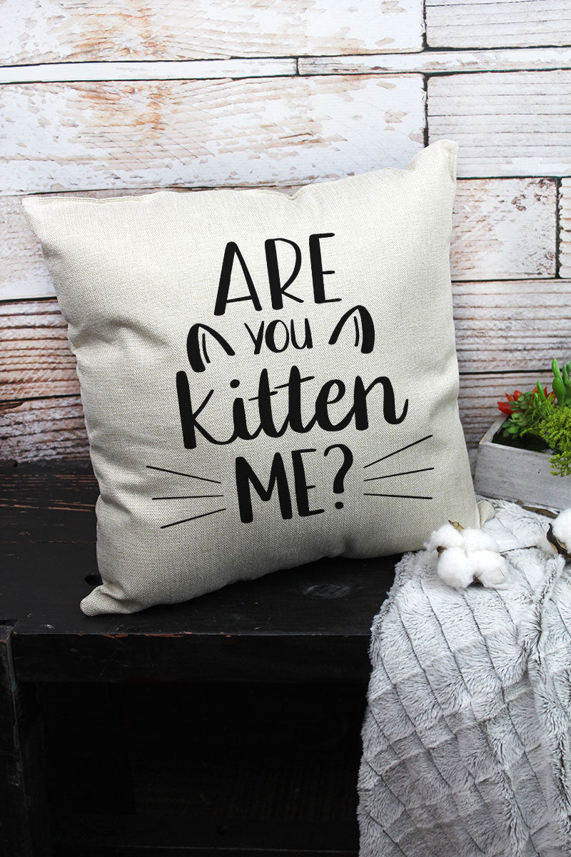 Are You Kitten Me? Decorative Pillow Cover