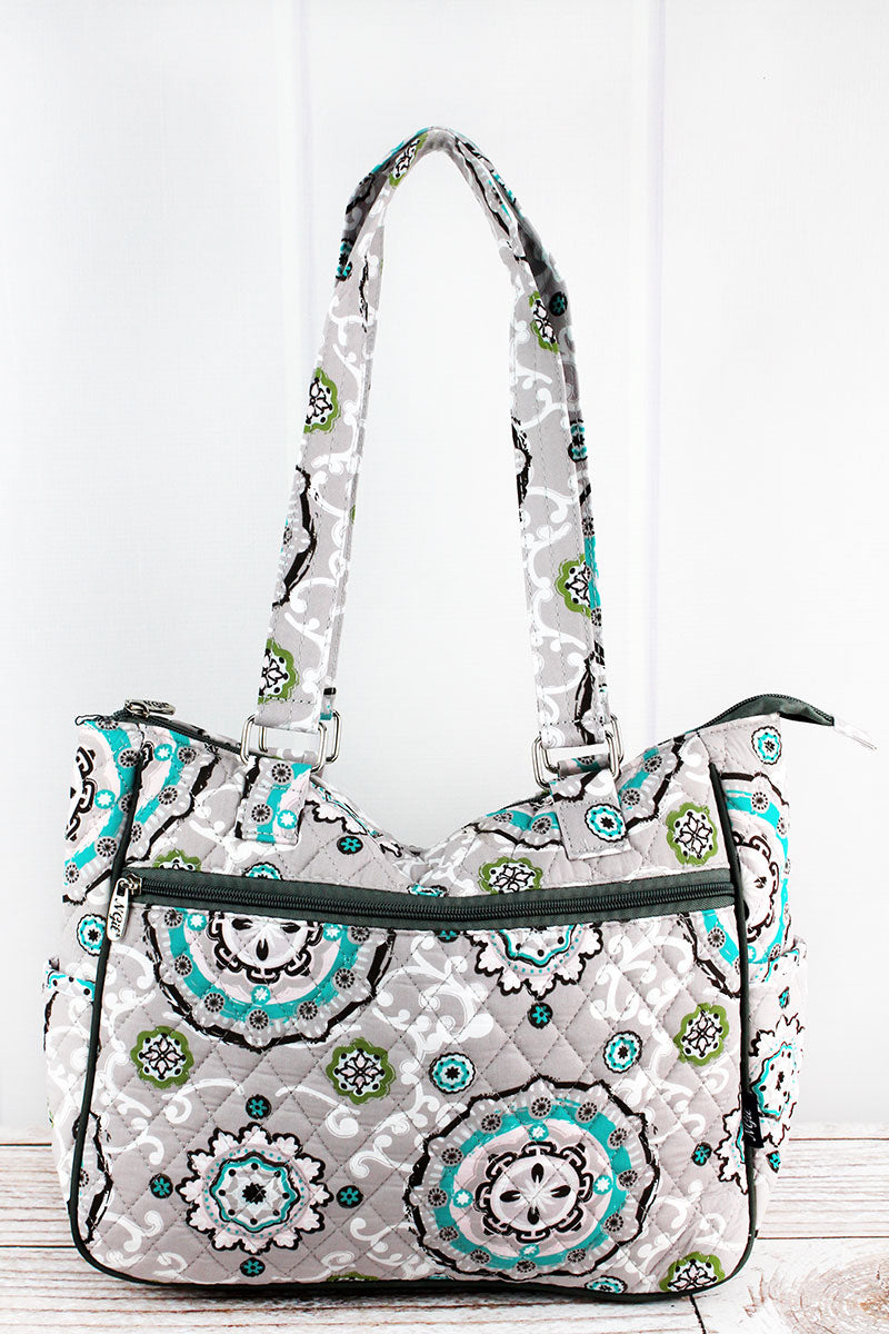 NGIL Garden View Quilted Shoulder Tote