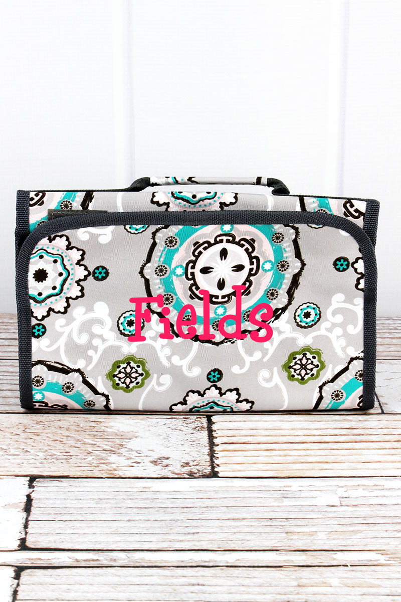 NGIL Garden View Roll Up Cosmetic Bag