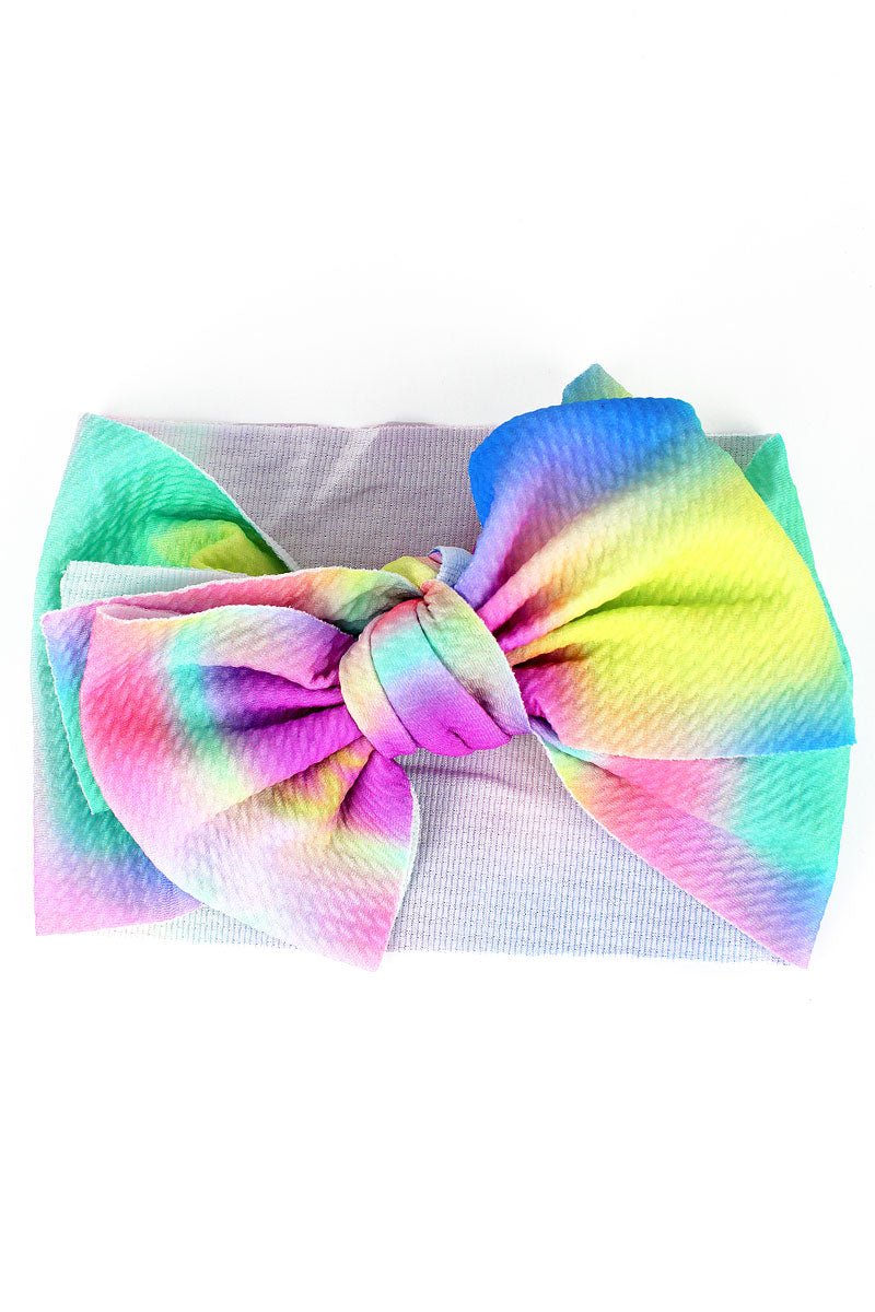 Tie-Dye Big Bow Baby Headband