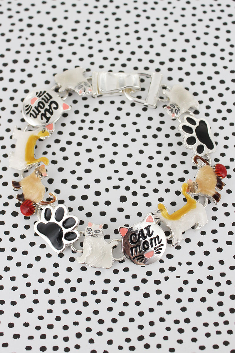 Cat Mom Magnetic Bracelet