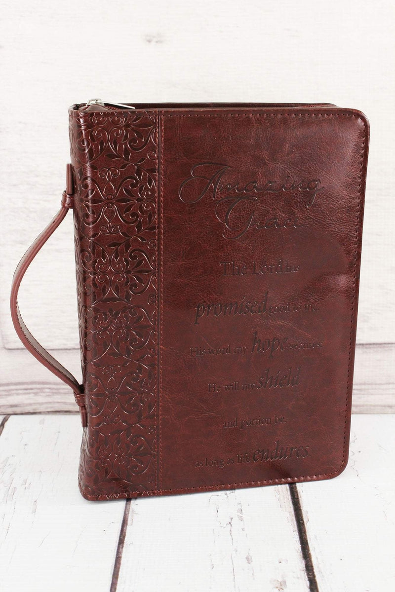 Maroon Amazing Grace Bible Cover #BBL247 - Wholesale Accessory Market