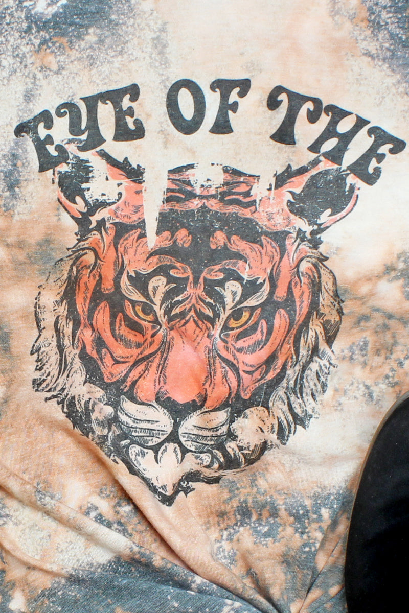 Bleached Eye Of The Tiger Unisex Blend Tee