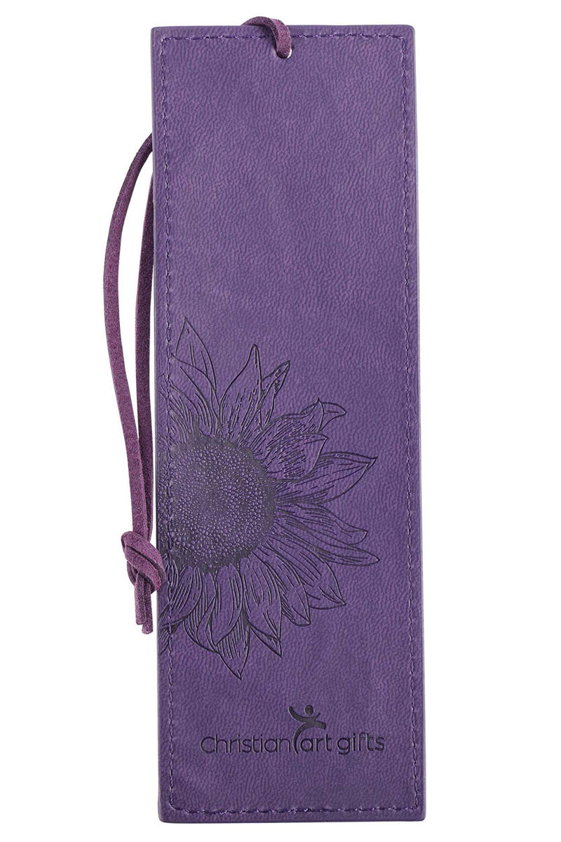 Strength & Dignity Purple LuxLeather Page Marker