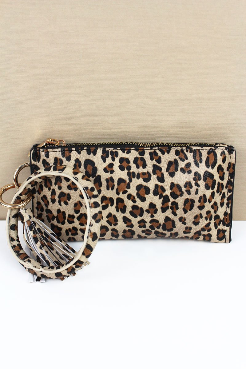 Night On The Town Leopard Bangle Wristlet