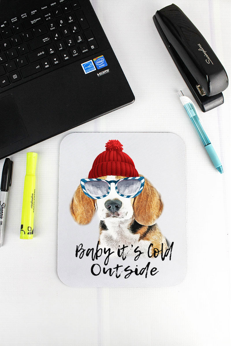 Beagle Baby It's Cold Outside Mousepad
