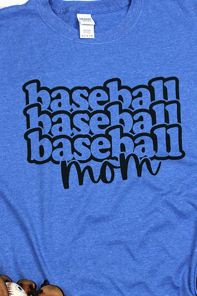 Stacked Baseball Mom Softstyle Adult T-Shirt