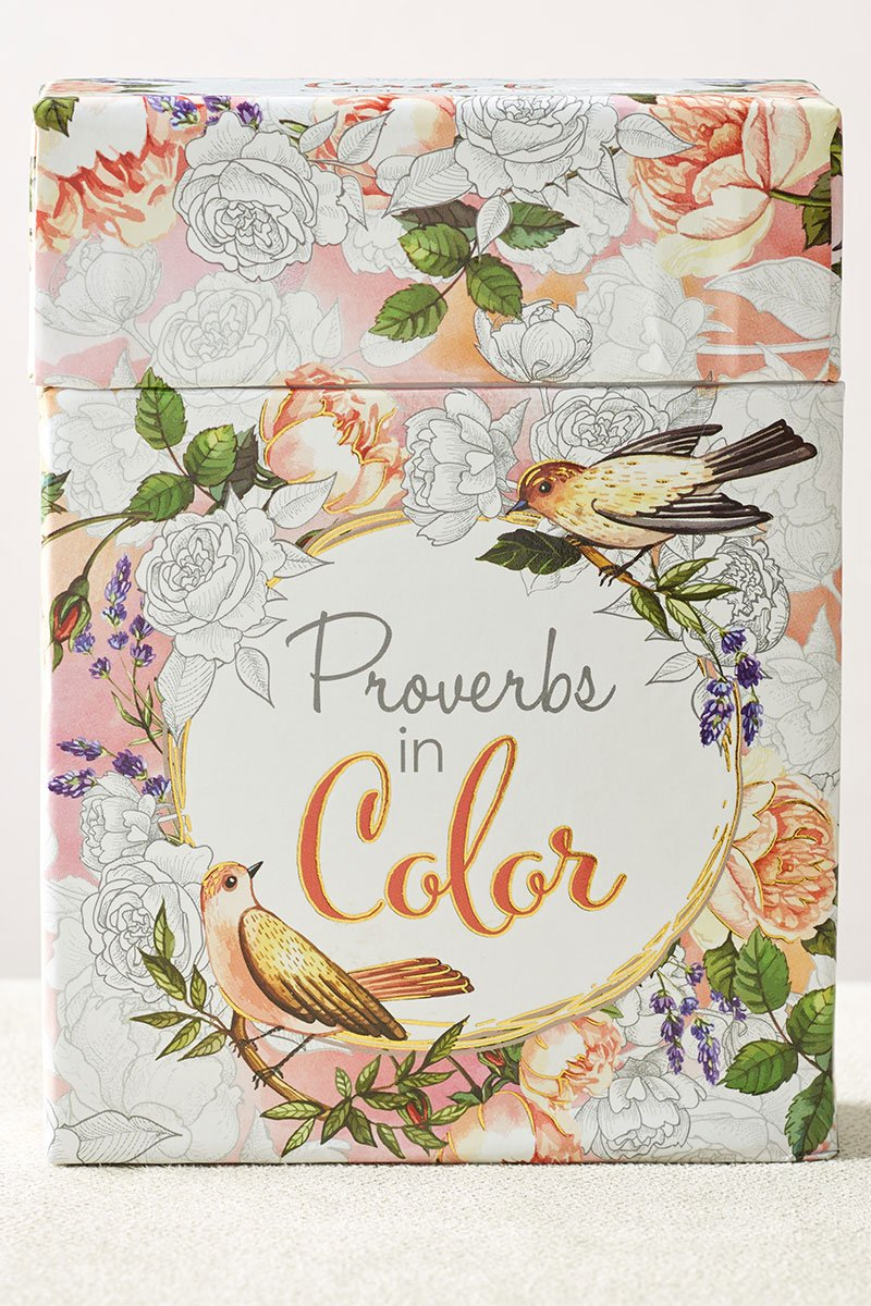 Proverbs in Color Coloring Cards