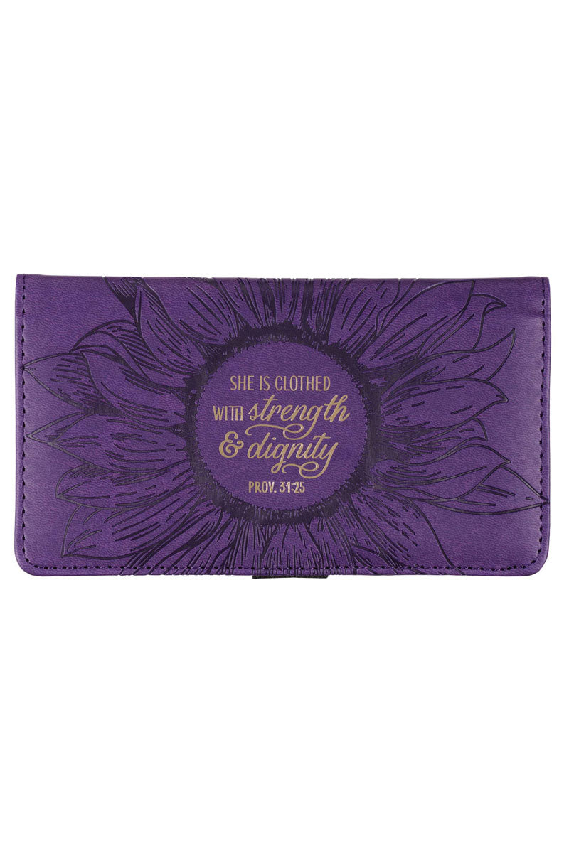 Strength & Dignity Purple LuxLeather Checkbook Cover